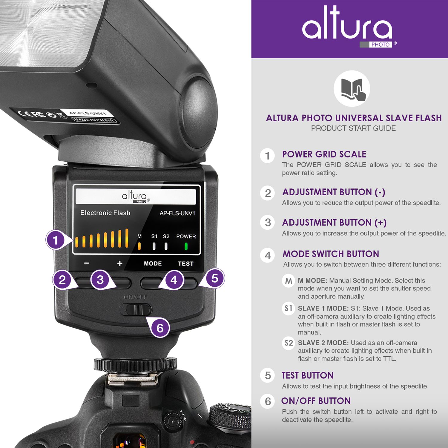 Universal Digital Ttl Flash For Dslr Cameras Altura Photo