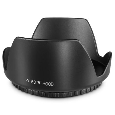 58MM Tulip Flower Lens Hood for Canon Rebel T5, T6, T6i, T7i, EOS 80D, EOS 77D Cameras with Canon EF-S 18-55mm f/3.5-5.6 IS Lens and Select Nikon Lenses