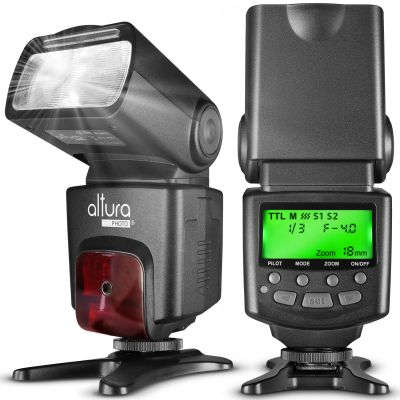 Altura Photo® AP-C1001 Speedlite Flash for Canon DSLR Camera with Auto-Focus, E-TTL, Wireless Trigger Slave Function